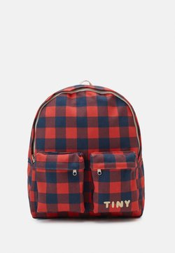 TINYCOTTONS - CHECK BIG BACKPACK - Reppu - navy/red