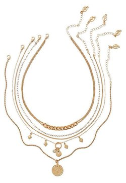 Stradivarius - 5 PACK - Halsband - gold-coloured