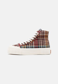 Good News - PALM CHECK - Sneaker high - brown/blue