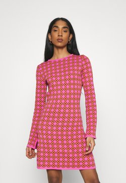 Never Fully Dressed - MOSAIC TILE SWING DRESS - Vestido de punto - pink