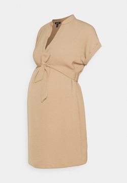 New Look Maternity - MARA OHEAD BELTED TUNIC - Bluse - stone