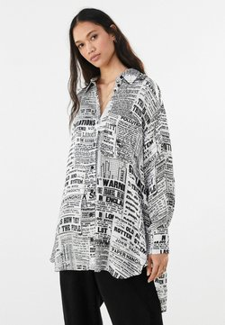 Bershka - MIT PRINT - Koszula - dark grey