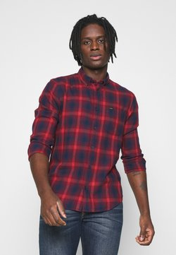 Lee - BUTTON DOWN - Hemd - dark blue/red