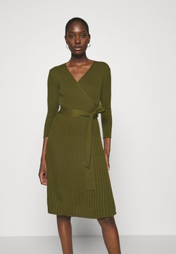 Dorothy Perkins - WRAP DRESS - Vestido de punto - khaki