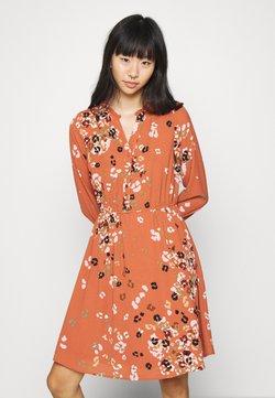 Vero Moda - VMAYA NECK DRESS - Blusenkleid - auburn