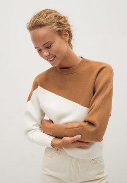 Mango - SPACE - Sweater - středně hnědá