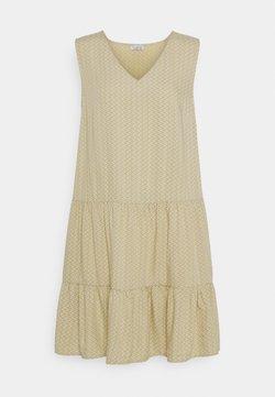 Re.draft - PRINTED VOLANT DRESS DOTS - Freizeitkleid - mustard yellow