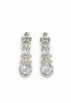 Pieces - PCJIDI EARRINGS - Earrings - silver-coloured/clear