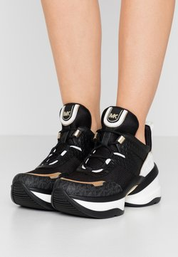 MICHAEL Michael Kors - OLYMPIA TRAINER - Sneakers - black/pale gold