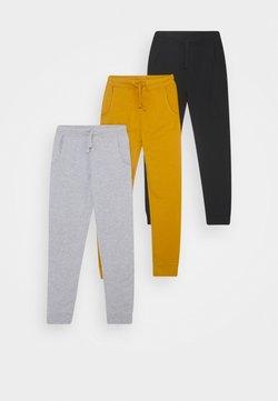 Friboo - BASIC BOYS 3 PACK - Jogginghose - light grey/ochre/black