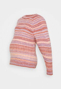 MAMALICIOUS - MLEVY BRUSHED - Strickpullover - peach nectar/multicolor