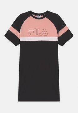 Fila - JUMA  - Jerseykleid - black/coral cloud/bright white