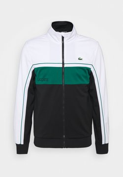 Lacoste Sport - TENNIS JACKET - Trainingsjacke - white/black/bottle green/black