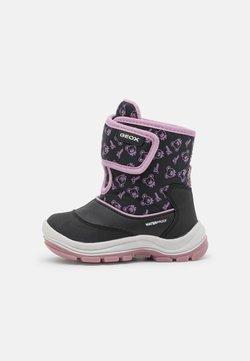 Geox - FLANFIL GIRL WPF - Vauvan kengät - black/dark pink