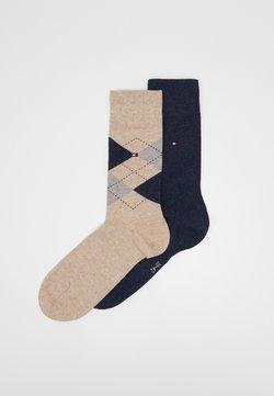 Tommy Hilfiger - MEN SOCK CHECK 2 PACK - Socken - beige melange
