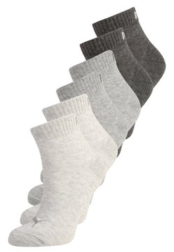 Puma - QUARTER 6 PACK - Sportsocken - anthracite/light grey melange/medium grey melange