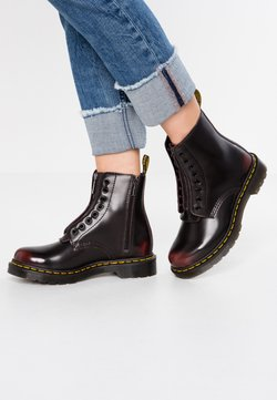 Dr. Martens - 1460 PASCAL FRNT ZIP 8 EYE BOOT - Veterboots - cherry red arcadia