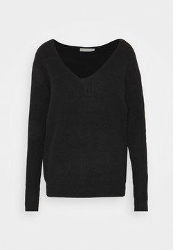 Pieces - PCBABETT NECK  - Pullover - black