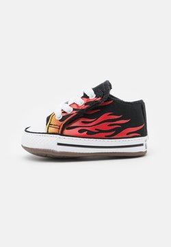 Converse - CHUCK TAYLOR ALL STAR CRIBSTER ARCHIVE FLAME PRINT UNISEX - Krabbelschuh - black/fresh yellow/enamel red
