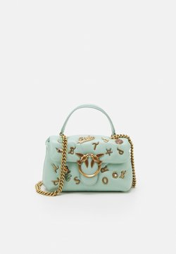 Pinko - LOVE MINI PUFF SUMMER PINS - Across body bag - aqua green