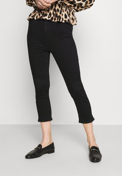 Marks & Spencer London - CROPPED - Jeans Skinny Fit - black denim