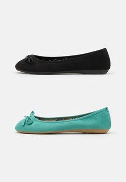 Anna Field - 2 PACK - Baleriny - mint/black