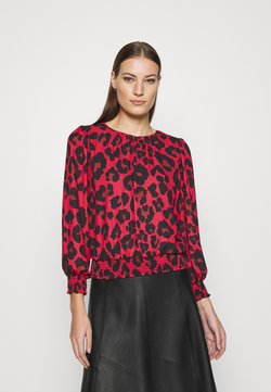 Dorothy Perkins - ANIMAL SHEERED - Langarmshirt - red
