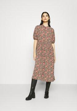 ONLY - ONLJANINE MIDI DRESS - Skjortekjole - chocolate brown