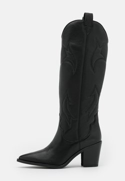 Unisa - MIRABEL - Cowboy-/Bikerboot - black creamy