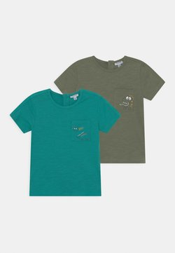 OVS - 2 PACK - Camiseta estampada - hedge green