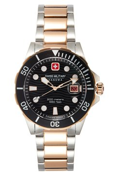 Swiss Military Hanowa - OFFSHORE DIVER - Montre - black/silver-coloured/rose gold-coloured