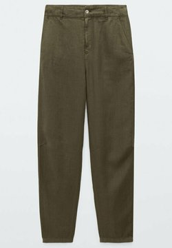 Massimo Dutti - RELAXED-FIT - Tygbyxor - green