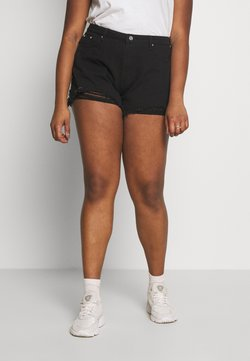 Missguided Plus - EXTREME FRAY HEM RIOT - Jeansshort - black