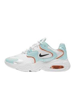 Nike Sportswear - AIR MAX 2X - Sneakers laag - white light dew turf orange black