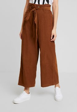 American Eagle - OTT TIE WIDE LEG PANT - Trousers - brown