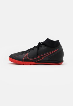 Nike Performance - MERCURIAL 7 ACADEMY IC - Fußballschuh Halle - black/dark smoke grey