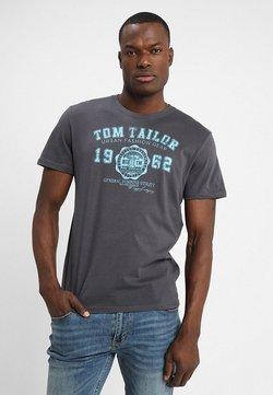 TOM TAILOR - LOGO TEE - T-shirt z nadrukiem - tarmac grey