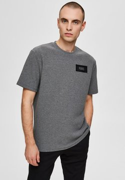 Selected Homme - HAUPTSTADT PRINT - T-Shirt basic - grey melange