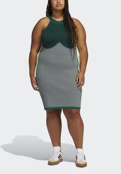adidas Originals - Ivy Park Knit Logo  - Korte jurk - darkgreen/black/greentint/yellwtint