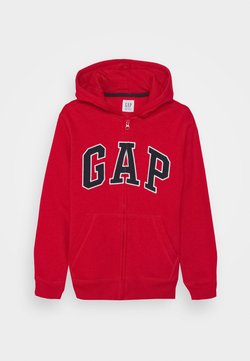 GAP - BOY NEW ARCH HOOD - Bluza rozpinana - pure red