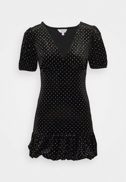 Miss Selfridge Petite - BUBBLE HEM MINI - Etuikleid - black