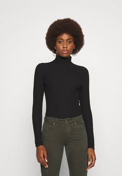 ONLY Tall - ONLNELLA ROLL NECK TOP - Sweter - black