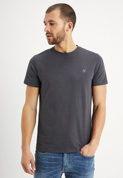 Marc O'Polo - C-NECK - T-Shirt basic - gray pinstripe