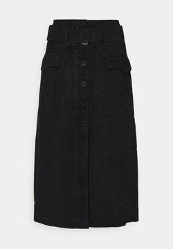 YAS Tall - YASSOMA SKIRT - A-linjekjol - black