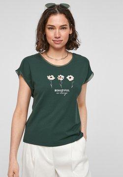 s.Oliver BLACK LABEL - T-Shirt print - dark green