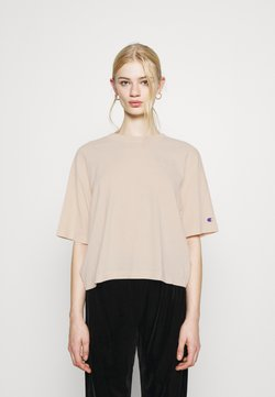 Champion Reverse Weave - CREWNECK CROPTOP - T-shirt basic - beige