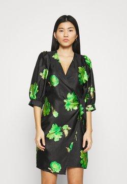 Samsøe Samsøe - CELESTINA WRAP DRESS - Freizeitkleid - black/green
