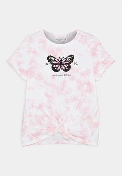 Abercrombie & Fitch - FRONT FLIP - T-Shirt print - pink