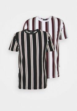 Burton Menswear London - STRIPE 2 PACK - T-Shirt print - white