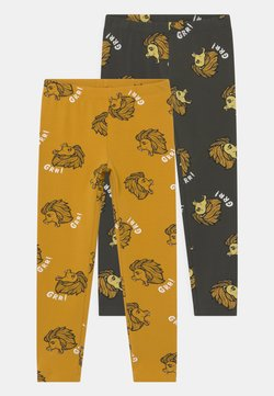 Lindex - LION 2 PACK UNISEX - Leggings - dark grey